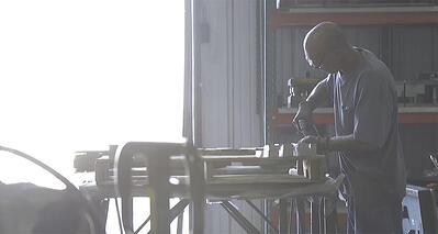 Man working in an industrial shop